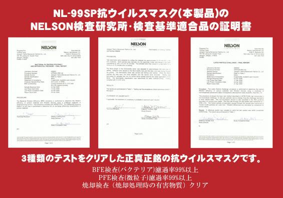 抗ウィルスマスクNL-99SP